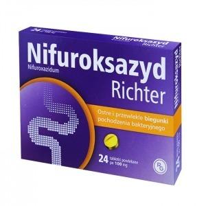NIFUROKSAZYD RICHTER 100MG 24 TABLETKI